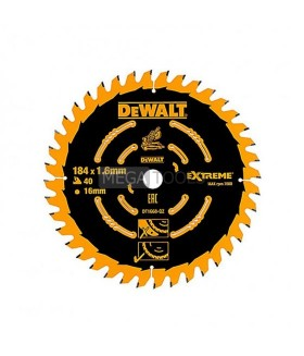 DEWALT DT1668 184 X 16MM 40T SAW BLADE