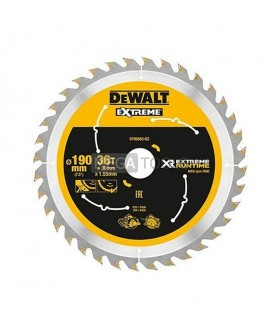 DEWALT EXTREME DT99563-QZ XR 190 X 30 X 36T EXTREME RUN TIME SAW BLADE