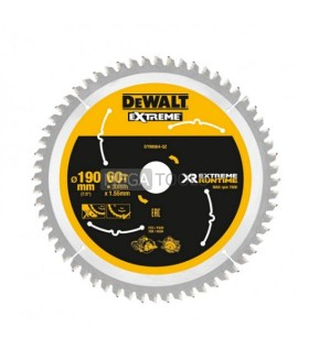 DEWALT EXTREME DT99564-QZ XR 190 X 30 X 60T EXTREME RUN TIME SAW BLADE
