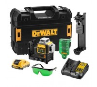 DEWALT DCE089D1G - SELF LEVELLING X3 360 1080 CROSS LINE LASER 10,8V GREEN