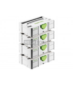 Festool SYS-MINI TL4 Pack of 4 Mini SYSTAINER T-LOC Storage Cases - 499622X4