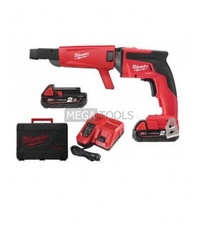 Milwaukee M18FSGC-202X 18V Drywall Screwdriver with 2 x 2.0Ah Batteries & Hard Carry Case